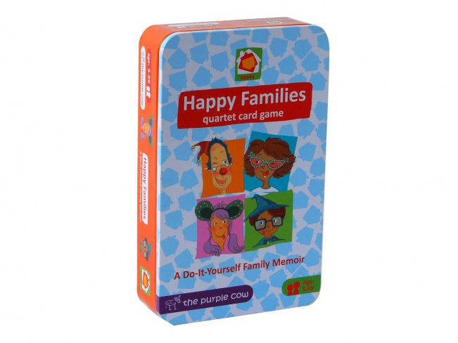 Happy families a go fish card game starring your own family capture the things that makes your family special easy to make with our template cards a diy family memoir solutioingenieria Choice Image