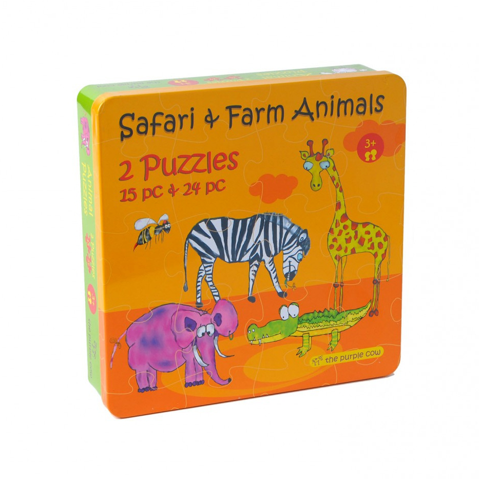 2 Puzzle in A Box - Animals